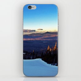Ski Trail on Sugarloaf Mountain in Carrabassett Valley, Maine iPhone Skin