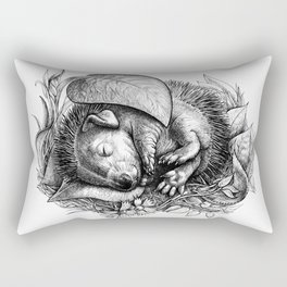 Baby hedgehog Rectangular Pillow