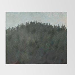 PNW Forest Grunge Throw Blanket