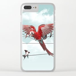 COLORFUL STRANGER Clear iPhone Case