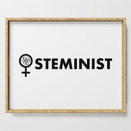 Steminist with symbol Serving Tray