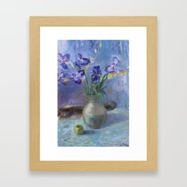 Purple irises Framed Art Print