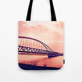 Over the Bridge Tote Bag