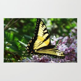 Simply Beautiful Tiger Swallowtail Butterfly Rug