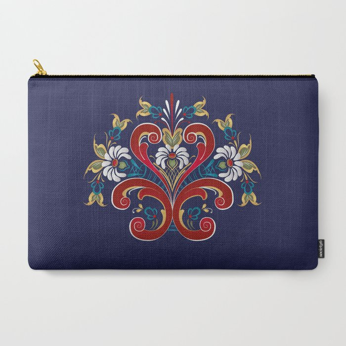 Scandinavian_Rosemaling_II_CarryAll_Pouch_by_Blue_Herring__Large_125_x_85