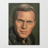 steve mcqueen Canvas Prints featuring Steve McQueen by scottmitchell