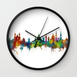 Lucerne Switzerland Luzern Skyline Wall Clock