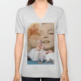 Marilyn Portrait Collage 3 Unisex V-Neck