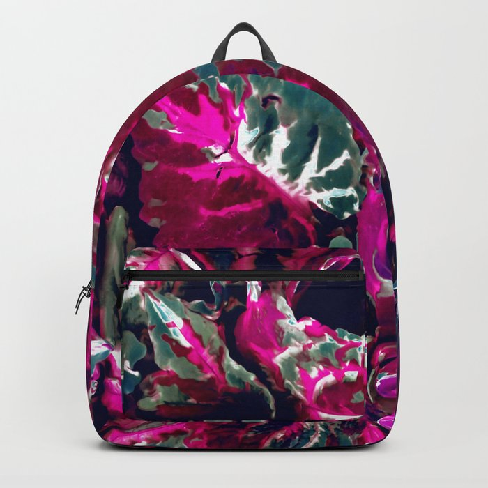 Vintage Satin foliage Backpack