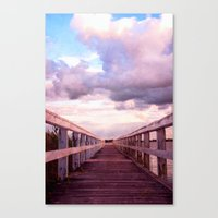 bridge Canvas Prints featuring bridge by Claudia Drossert