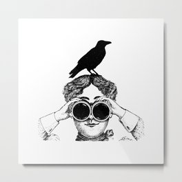 Where's that bird?! - humor Metal Print