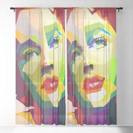 Elizabeth Taylor Pop Art Sheer Curtain