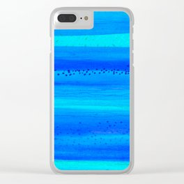 Blue Sky Blue Waters Clear iPhone Case