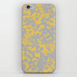 Sunshine Yellow - Broken but Flourishing Floral Pattern iPhone Skin