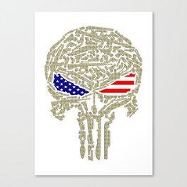 Skull united states Canvas Print