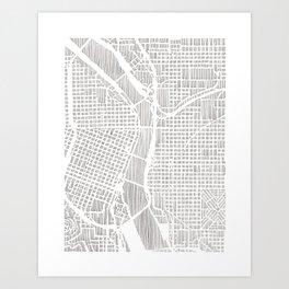portland city print Art Print
