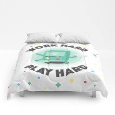 Work Hard, Play BMO Comforters