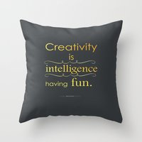 creativity Throw Pillows featuring Creativity by Cecilie