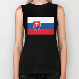 Flag of Slovakia, High Quality Image Biker Tank