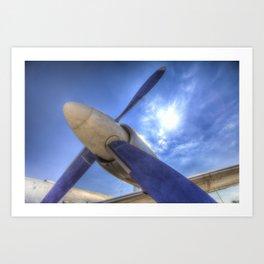 Ilyushin IL-18 Turbojet Engine Art Print