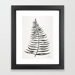 Black Palm Leaf Framed Art Print