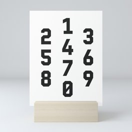 Typography Numbers #2 Mini Art Print