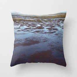 Low Tide at Southport - UK Throw Pillow