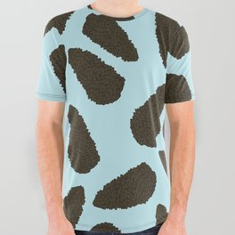Tree Patterns: Blue Pinecones All Over Graphic Tee