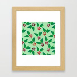 Christmas Flowers Framed Art Print