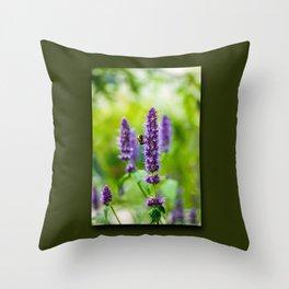 flower nectar Throw Pillow