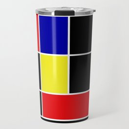 Mondrian #49 Travel Mug