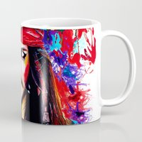 jack sparrow Mugs featuring Captain Jack Sparrow by isabelsalvadorvisualarts