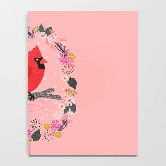 Northern Cardinal by Andrea Lauren  Notebook