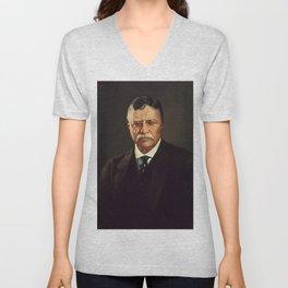 Theodore Roosevelt Unisex V-Neck