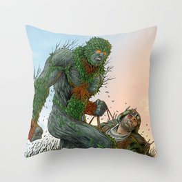 Green Man cover art Throw Pillow