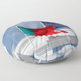 Portugal and Azores flags Floor Pillow