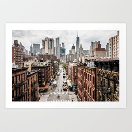 New York City Skyline (Brooklyn, Queens, Manhattan) Art Print