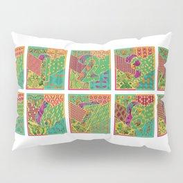 Tiles 1-9 Wide White Pillow Sham