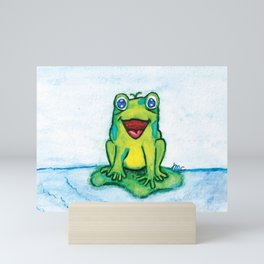 Happy Frog - Watercolor Mini Art Print