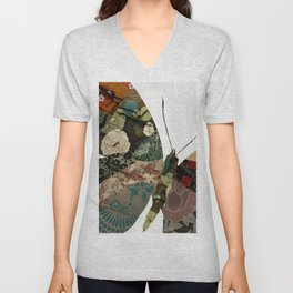 Butterfly Brocade I Unisex V-Neck