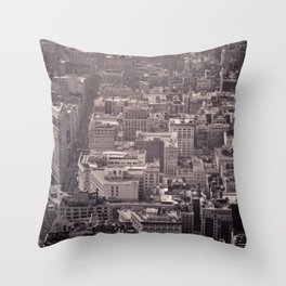 New York City #newyork #blackwhite #flatiron #NYCarchitecture #NYC #Manhattan #bw #empirestate Throw Pillow