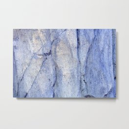 rock 44 stone cliff blue tint rustic outdoors Metal Print