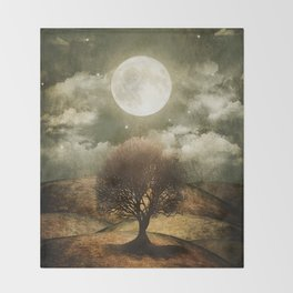 Once upon a time... The lone tree. Throw Blanket