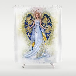 Floral Angel Shower Curtain