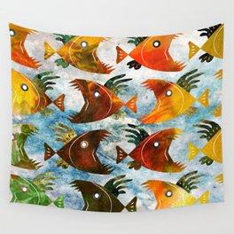 Indonesian batik, wild fish pattern Wall Tapestry