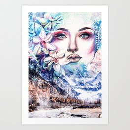 Face of the winter Art Print