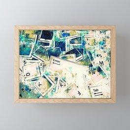 keyboard keys letters wsstdi Framed Mini Art Print