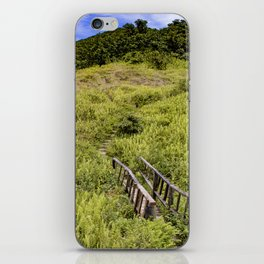Cute Wooden Bridge Leading through the Fern Covered Side of Mombacho Volcano, Nicaragua iPhone Skin