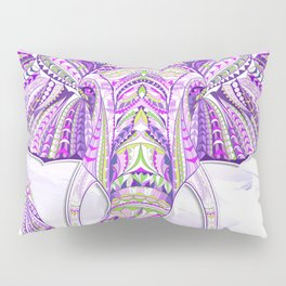 Purple Ethnic Elephant Pillow Sham
