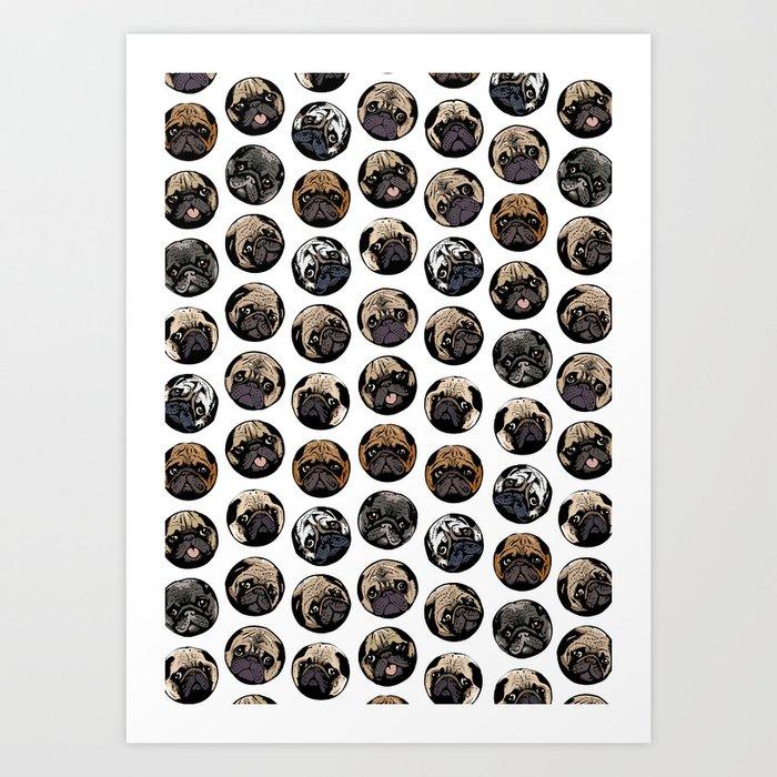 Pugka Dot Art Print